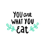You are what you eat. Vector hand drawn illustration stock illustration