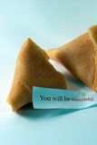 You will be successful. Open fortune cookie with the message you will be successful stock images