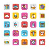 Baby and Kids  Colored Vector Icons 2 Royalty Free Stock Photos
