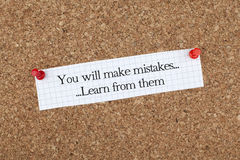 You Will Make Mistakes Learn From Them Stock Photo