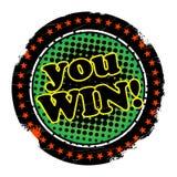You win. Grunge color stamp stock illustration