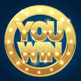You win banner for the casino vector illustration