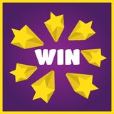 You Win background. You Win  card. Win stars background Royalty Free Stock Photo