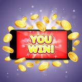 You win casino vector poster banner design template stock illustration