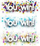 You win colour banners. Royalty Free Stock Images