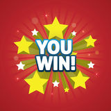 You Win - design element Royalty Free Stock Images
