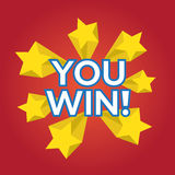 You Win. EPS 10  illustration Royalty Free Stock Images