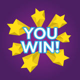 You Win. EPS 10  illustration Royalty Free Stock Photo