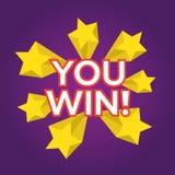 You Win. EPS 10  illustration Royalty Free Stock Image