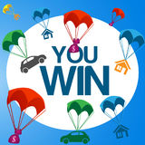 You win. Illustration in vector format Royalty Free Stock Photography