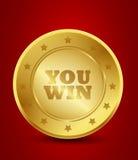 You win medal Stock Photos