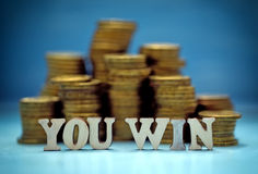 You win money Royalty Free Stock Image