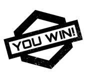 You Win rubber stamp. Grunge design with dust scratches. Effects can be easily removed for a clean, crisp look. Color is easily changed Royalty Free Stock Image