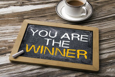You are the winner Royalty Free Stock Photography