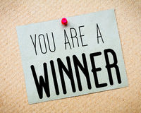 You are a winner Message Royalty Free Stock Images