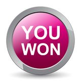 You won. Web button - editable vector illustration on isolated white background royalty free illustration