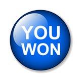You won. Web button - editable vector illustration on isolated white background stock illustration