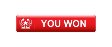 You won. Web button - editable vector illustration on isolated white background vector illustration