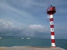 Lighthouse in Sanya, Hainan in China. royalty free stock images