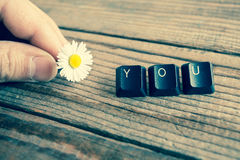 you wrote with keyboard keys Royalty Free Stock Photo