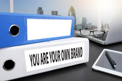YOU ARE YOUR OWN BRAND Stock Images