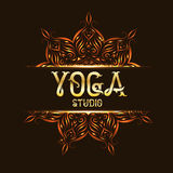 Youga演播室与坛场的象征商标 库存照片