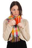 Yougn beautiful woman with a cup of tea Royalty Free Stock Image