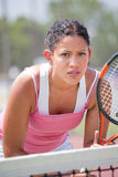 Youn female tennis player Royalty Free Stock Image