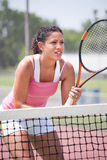 Youn female tennis player Stock Photos