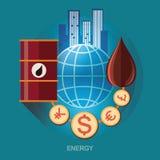 Youn kopplar ihop flyg med den hjärta formade ballongen Symbol för energi - besparing Energiutforskning chemical fabriksolja Ener Royaltyfri Bild