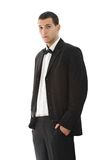 Youn man wearing tuxedo Royalty Free Stock Photos