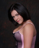 Youn woman in corset Stock Photo