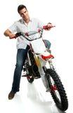 Yound biker Stock Image