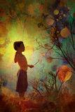 Yound child in nature Royalty Free Stock Images