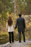 Yound couple in a forest Stock Photography