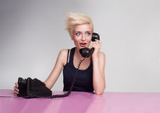 Gossiping punk Royalty Free Stock Photography