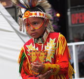 Young Aboriginal Boy Dancing Royalty Free Stock Photo