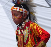 Young Aboriginal Boy Dancing Stock Photography