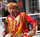 Young Aboriginal Boy Dancing Stock Photo