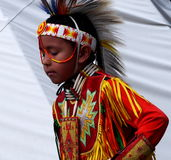Young Aboriginal Boy With Headdress Royalty Free Stock Photos
