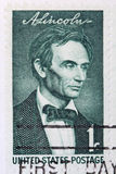 Young Abraham Lincoln. This is a Postage Stamp Young Abraham Lincoln Stock Photos
