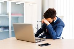 Free Young Academic Has Stressful Day Stock Image - 116277491