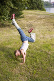 A young acrobat royalty free stock photography