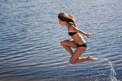 Young acrobatic girl Royalty Free Stock Images