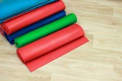 Gym mats, yoga mat, gymnastics, shaping royalty free stock photos
