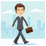 Young Active Businessman Royalty Free Stock Images