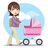 Young Active Mother Stock Images