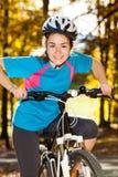 Young active people biking Stock Image
