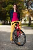 Young active people biking Stock Photo