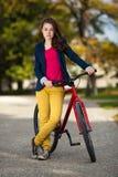 Young active people biking Stock Photos